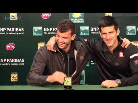 Novak Djokovic interrupts Grigor Dimitrov's press conference - Tennis TV