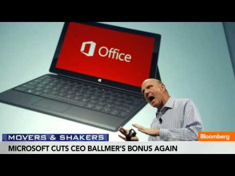 Microsoft Cuts Steve Ballmer's Bonus Again