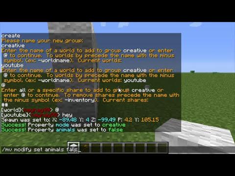 Minecraft Bukkit Plugin - Multi Verse - Multiple worlds