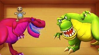Dinosaurs T-rex vs The Buddy | Kick The Buddy