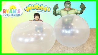 Glow Wubble Bubble Ball Family Fun Playtime with GIANT BALL