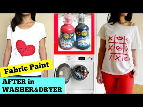 DIY:Fabric Paint AFTER in WASHER & DRYER I VDAY Design