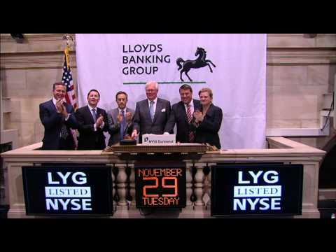 29 November 2011 Lloyds Banking Group Celebrates 10 Years of Trading rings the NYSE Closing Bell