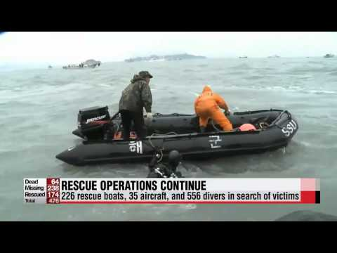 Rescue team to try to enter cafeteria of sunken Korean ferry