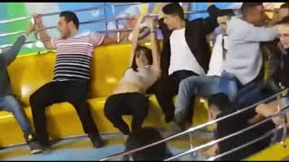 Very funny! Girl lose her underwear while enjoying the rides