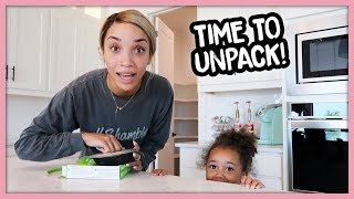 First Day In Our New House! (Unpacking!) | MOM VLOG