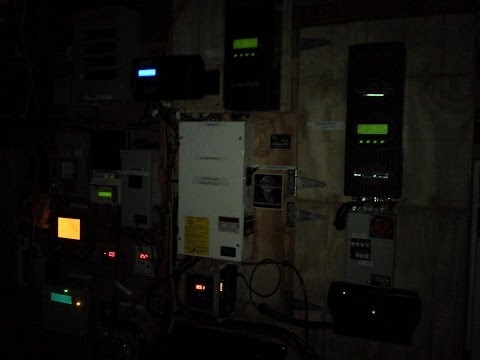 Solar And Wind  Power System Update  At Night After...