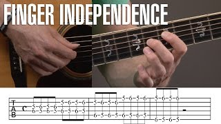 how to develop finger independence for guitar