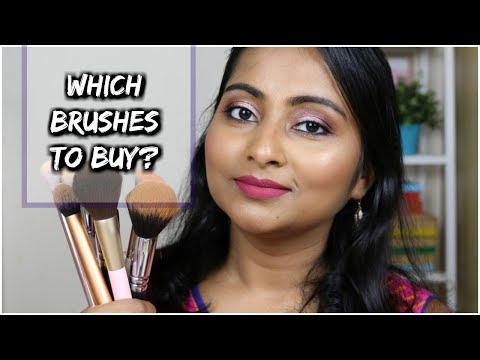Face and Eye Makeup Brushes Guide for Beginners | Which type of brushes to buy? | Started Brush Kit