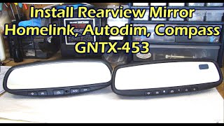Install Rearview Mirror with Homelink / AutoDim / Compass for Nissan