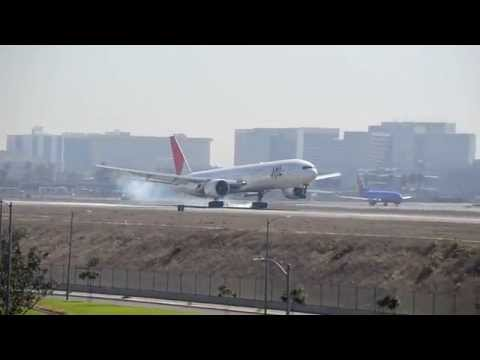 Japan Airlines JAL  Boeing 777  this amazing catch at  Los Angeles