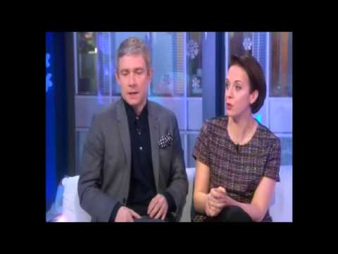 ♦ Martin Freeman & Amanda Abbington on The One Show ♦