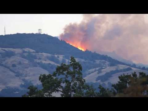 Mount Diablo State Park - Fire video taken on September 9th, 6:45am (Summit)