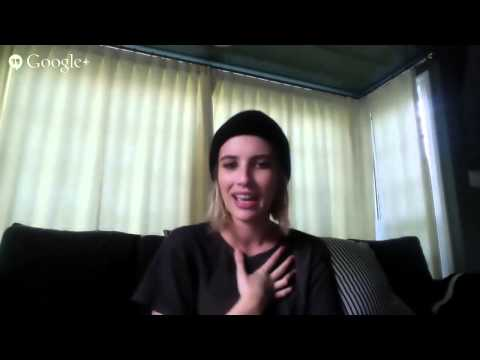 Gold Derby Emmy Google+ Hangout with Emma Roberts ('American Horror Story: Coven')
