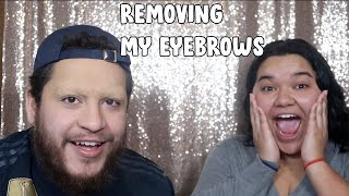 Removing My EYEBROWS and Getting My FRIENDS REACTION **FUNNY REACTION**