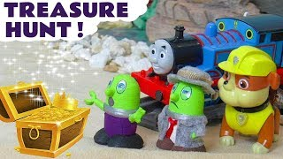 Funny Funlings Tresure Hunt toy story with Paw Patrol and Thomas The Train