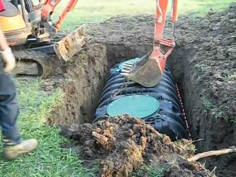Installation Of Poly Septic Tank Youtube