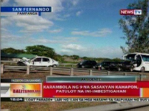 BT: Karambola ng 9 na sasakyan sa Pampanga, patuloy na ini-imbestigahan
