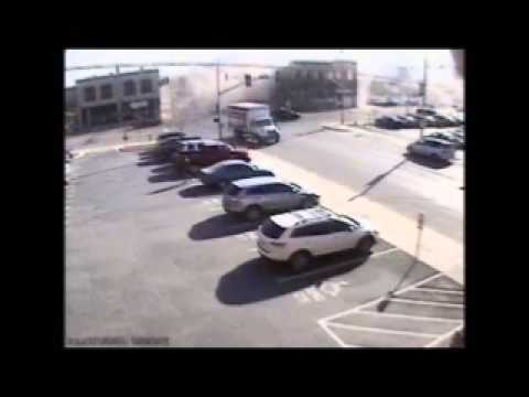 Car Crashes Into Building And It Collapses