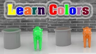 Learn Colors With Animal Bear For Children - Colours Learning Video for Kids Toddlers
