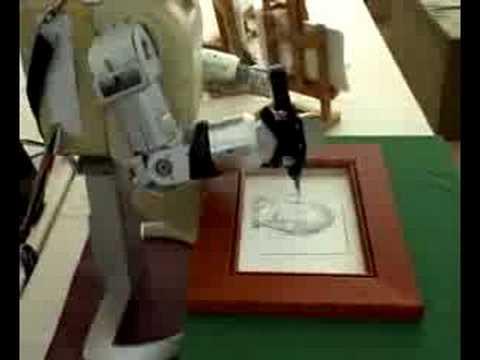 Portrérajzoló robotművész