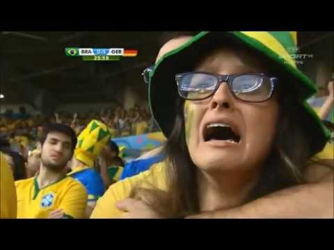Reaction of Brazil Fans in World Cup  loss - Sound of Silence