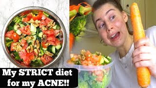EXACTLY WHAT I EAT IN A DAY ON MY STRICT ANTI ACNE DIET MY NATUROPATH GAVE ME