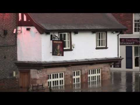 The River Ouse in Flood in York City Centre, North Yorkshire, UK - 28th September, 2012
