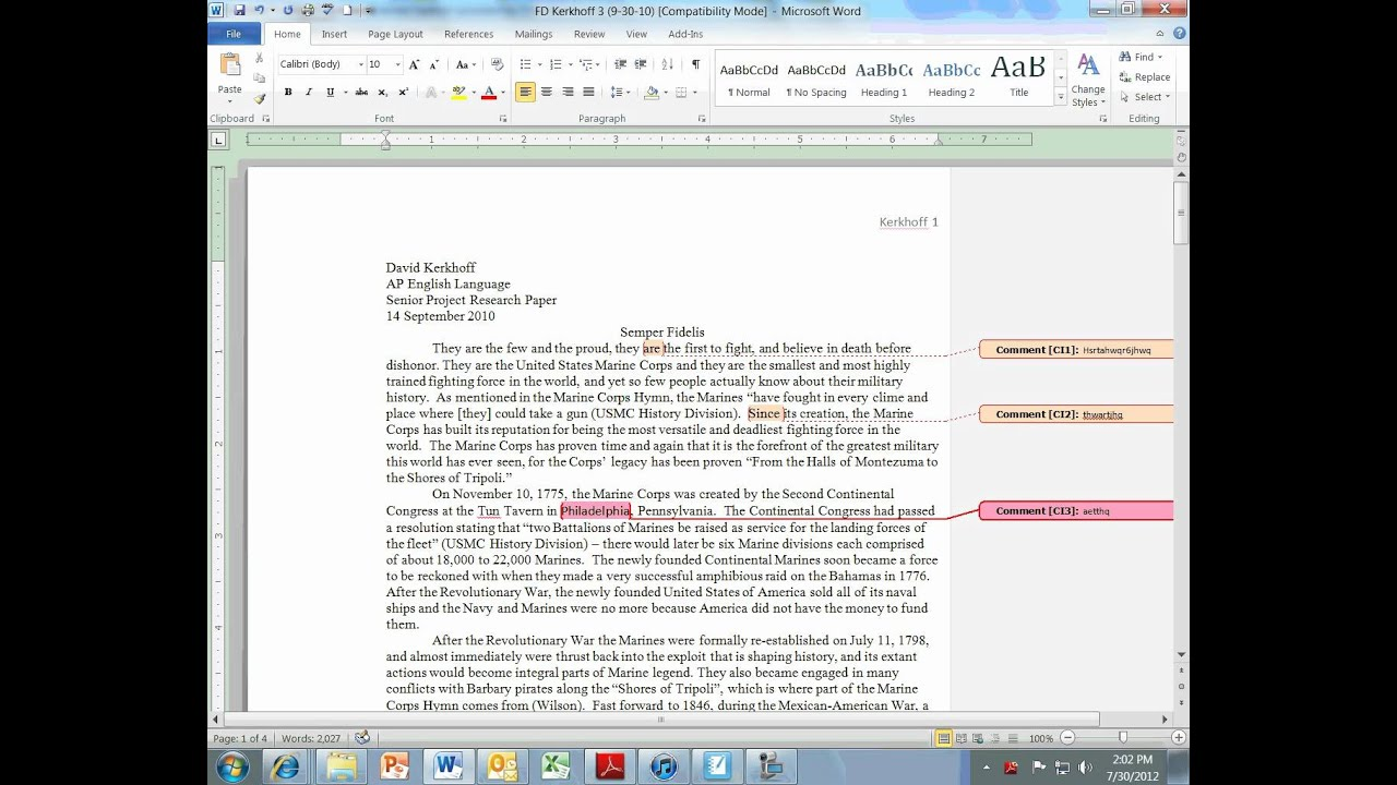 double essay spaced