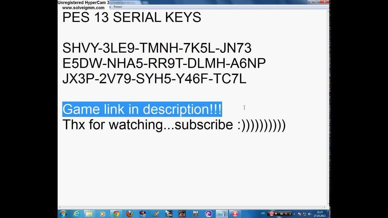 Serial CD key PES 2013 tryandhikaroby