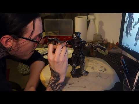 Making Overwatch: Reaper sculpture - part 9 - Paint coat #2