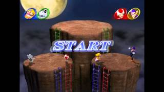 Mario Party 8 minigame: King of the Thrill 60fps