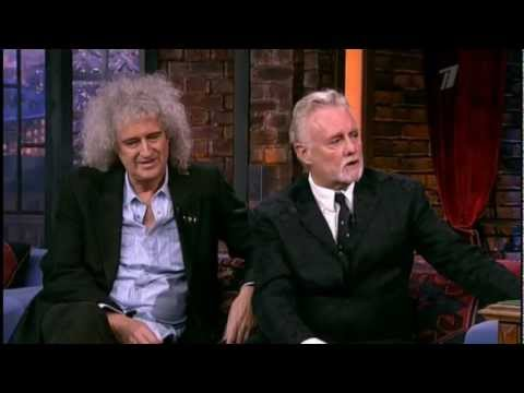 Brian May and Roger Taylor (Queen) on Late Night Show (Вечерний Ургант)