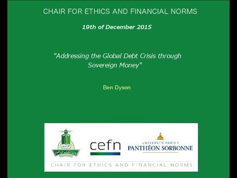 """Cenf Seminar - Ben Dyson -  """"Addressing the Global Debt Crisis through Sovereign Money""""."""