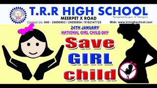 TRR HIGH SCHOOL NATIONAL GIRL CHILD DAY POSTER