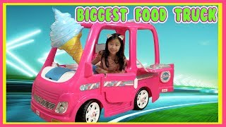 Pretend Play Food Truck with Ryan's Toy Review inspired ( World Best Food Truck )