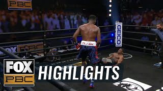 Frank Sánchez dominates Brian Howard with three knockdowns in 4 rounds | HIGHLIGHTS | PBC ON FOX