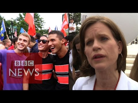 The moment after US Supreme court same-sex marriage decision - BBC News