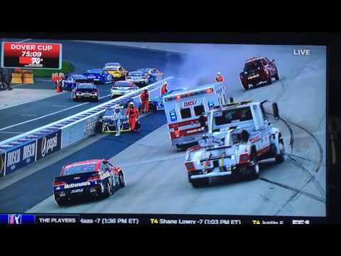 Danica Patrick/Tony Stewart practice wreck at Dover
