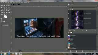 GIMP Tutorial - add text to an animated GIF movie clip - quick and easy