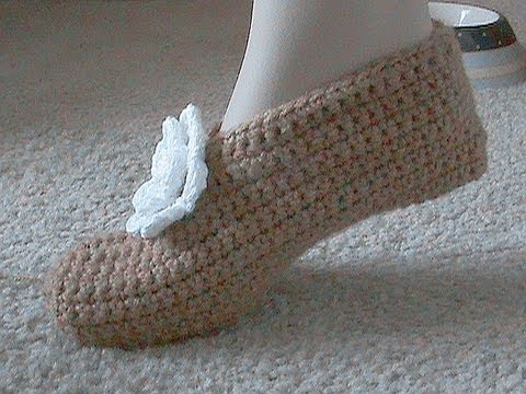 Crocheted Slipper Tutorial For Beginners, Super Easy