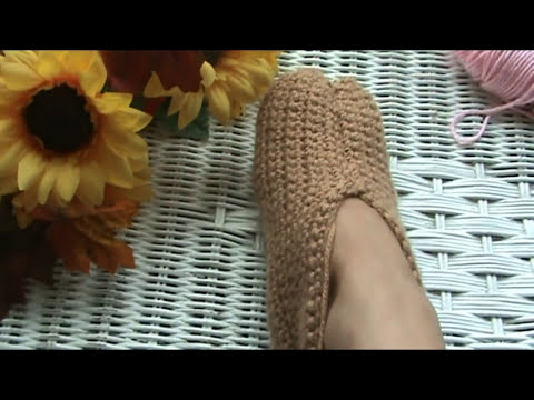 Crocheted Slipper Tutorial For Beginners, Super Easy!
