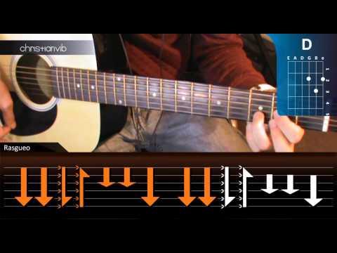 Como tocar De Musica Ligera en Guitarra Acústica HD Tutorial Rasgueo