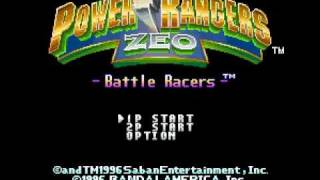 Power Rangers Zeo: Battle Racers Intro Super Nintendo