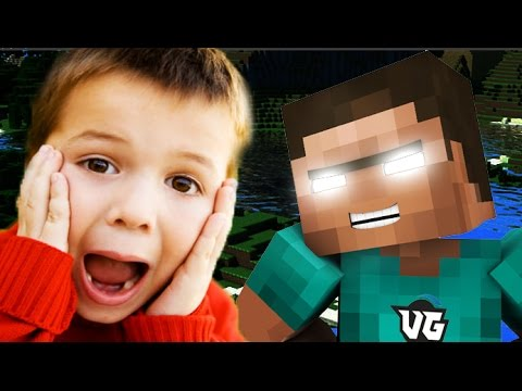 KID TROLLS HIMSELF IN MINECRAFT (Minecraft Herobrine Trolling) klip izle