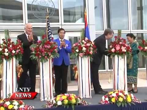 Lao NEWS on LNTV: New larger US Embassy opens.8/12/2014