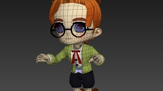 Chibi / anime character; Rigging and Skinning Autodesk 3ds Max