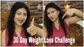 30 Day Weight Loss Challenge | Lose 5 kgs in a month | Indian Diet Chart for weight loss | Vartika