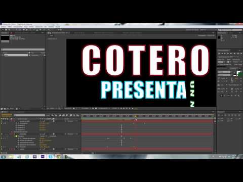 Como Animar Tipografía (Texto) en After Effects CS6, CS5 o CS4