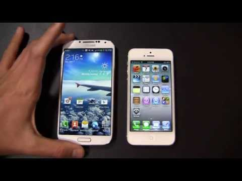 Samsung Galaxy S 4 vs. Apple iPhone 5 Dogfight Part 1